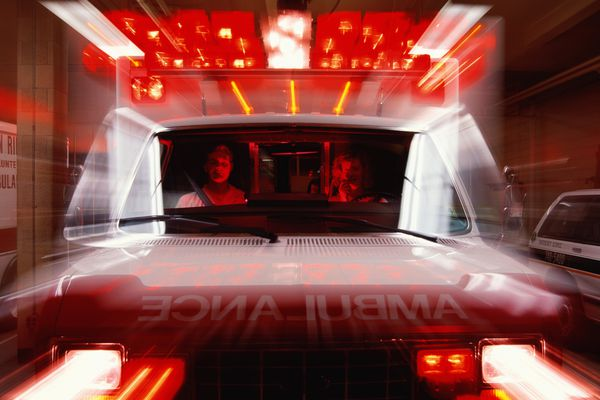 Front view of an ambulence