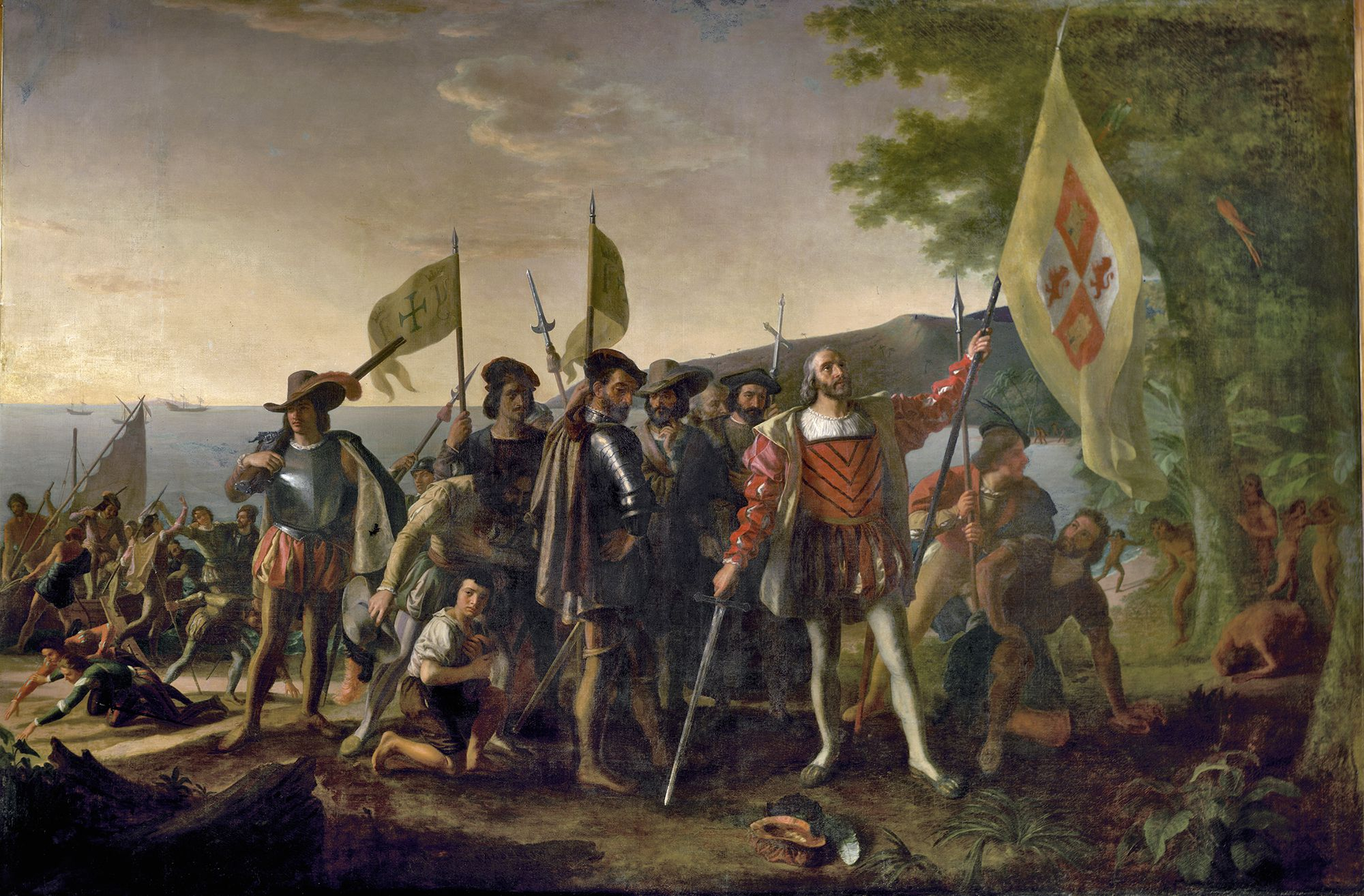 christopher columbus hero or villain  painting of christopher columbus by john vanderlyn