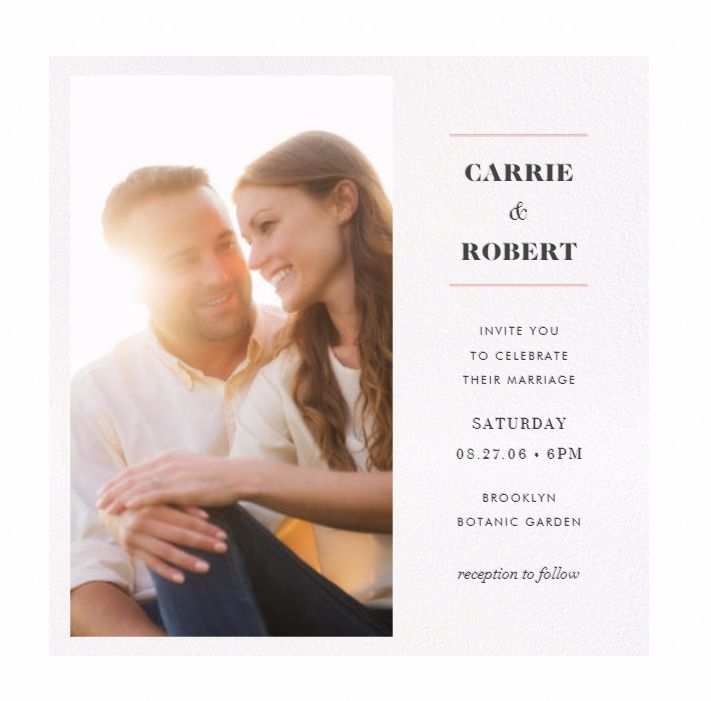 an online wedding invitation featuring a photo of the couple - Wedding Invitation Online