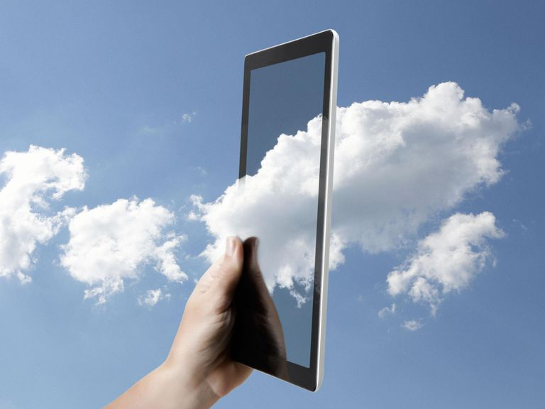 Cloud computing on a digital tablet