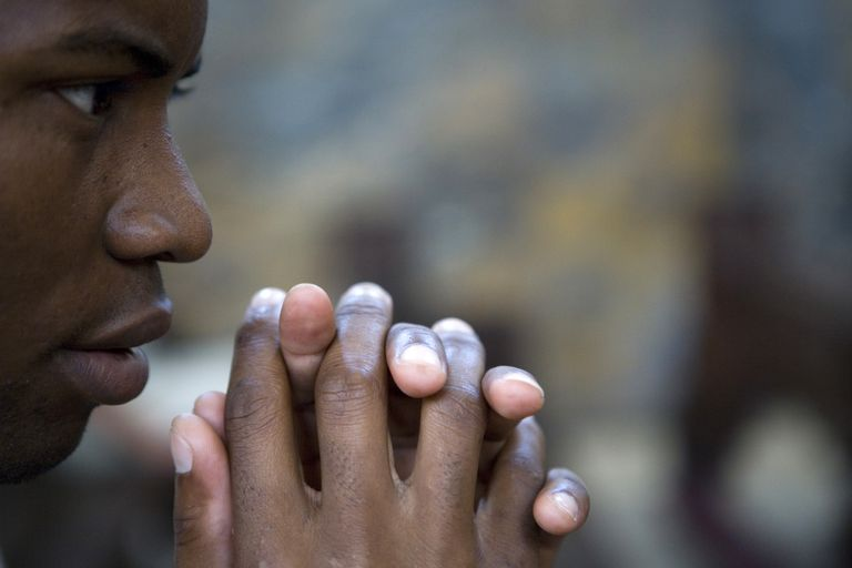 Young person praying