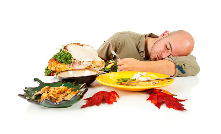 It's tempting to blame the tryptophan in turkey for why you're tired after a big meal, but it's really just your body's reaction to trying to digest a lot at once.