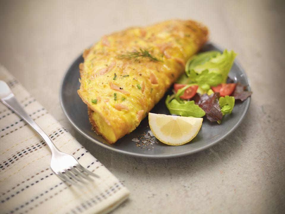 Low Calorie Bacon Omelette