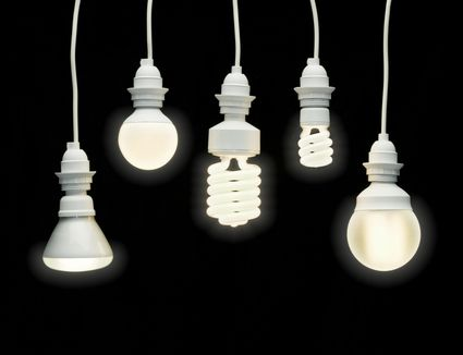 What are the different types of fluorescent light bulbs