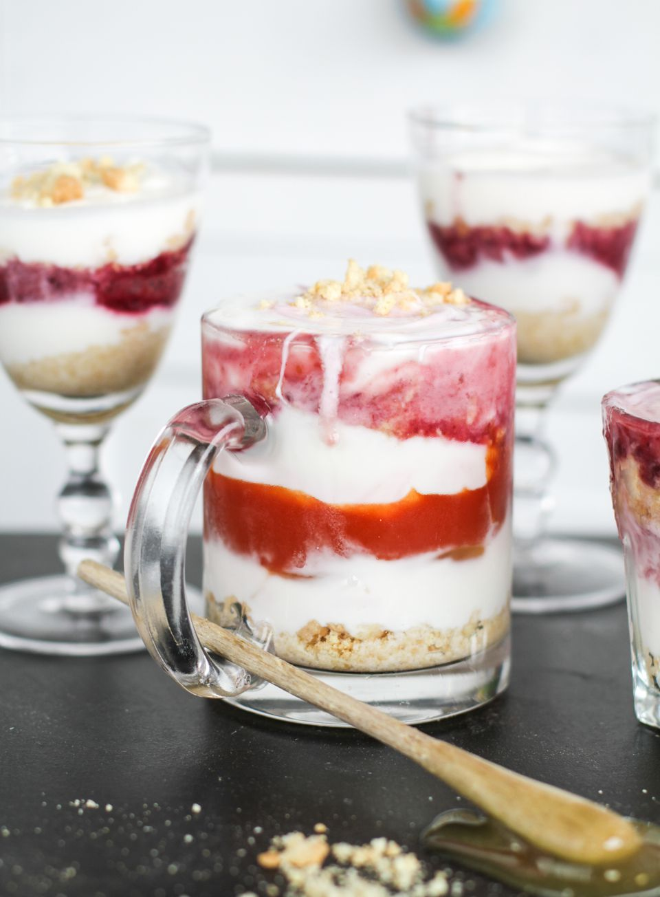 Berry jam trifle