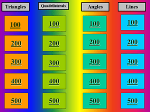 9 free jeopardy templates for the classroom screenshot of a multi colored geometry jeopardy powerpoint template toneelgroepblik Image collections