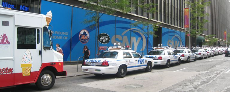 Cops cars and ice cream trucks