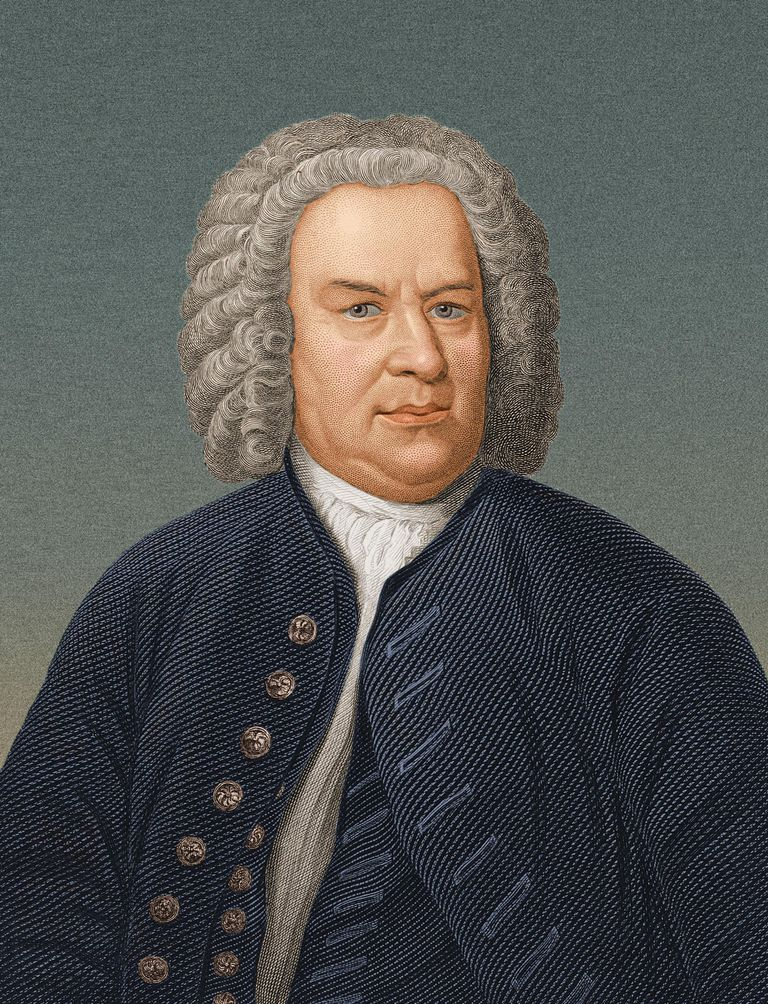 Circa 1725, German organist and composer Johann Sebastian Bach (1685 - 1750)