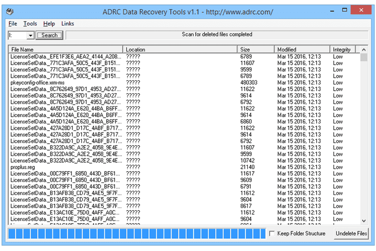 Ảnh chụp màn hình của ADRC Công cụ Phục hồi dữ liệu