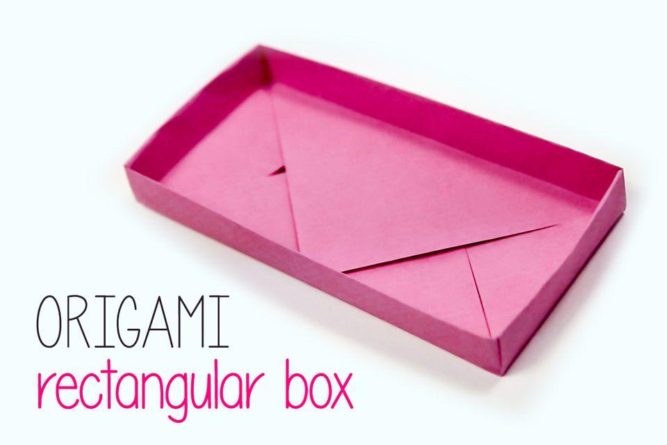 origami rectangular box instructions