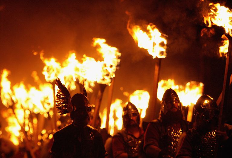 Warriors with Torches