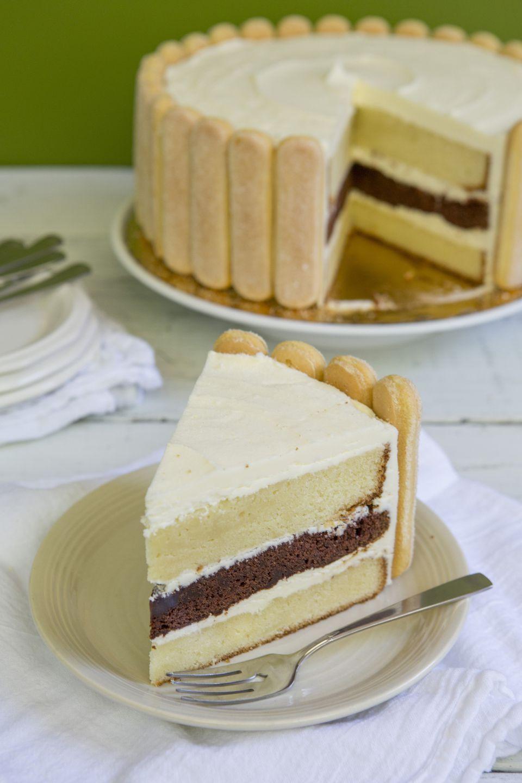 Slice of Charlotte Cake