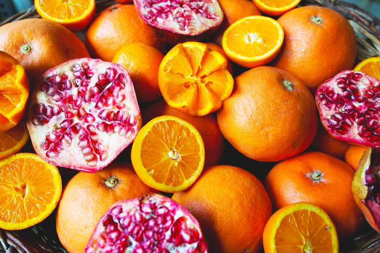 Oranges and pomegranate