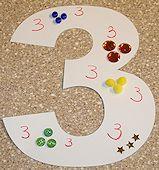 Preschool 3-Dimensional Numbers Collage