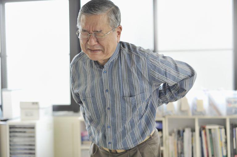 Senior men are in pain lower back pain