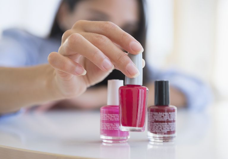 Nail polish contains a balance of chemicals to produce a beautiful and durable finish.