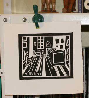 Linocut printing