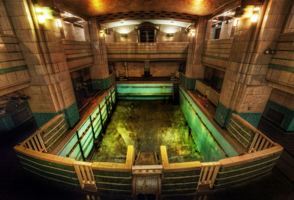 Some People Say the Queen Mary Swimming Pool is Haunted