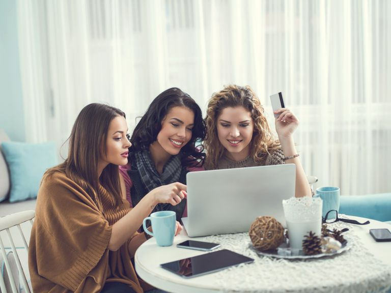 Friends Shopping Online