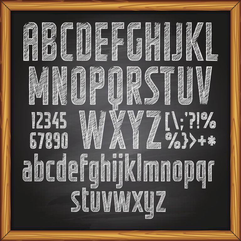 type on a chalkboard