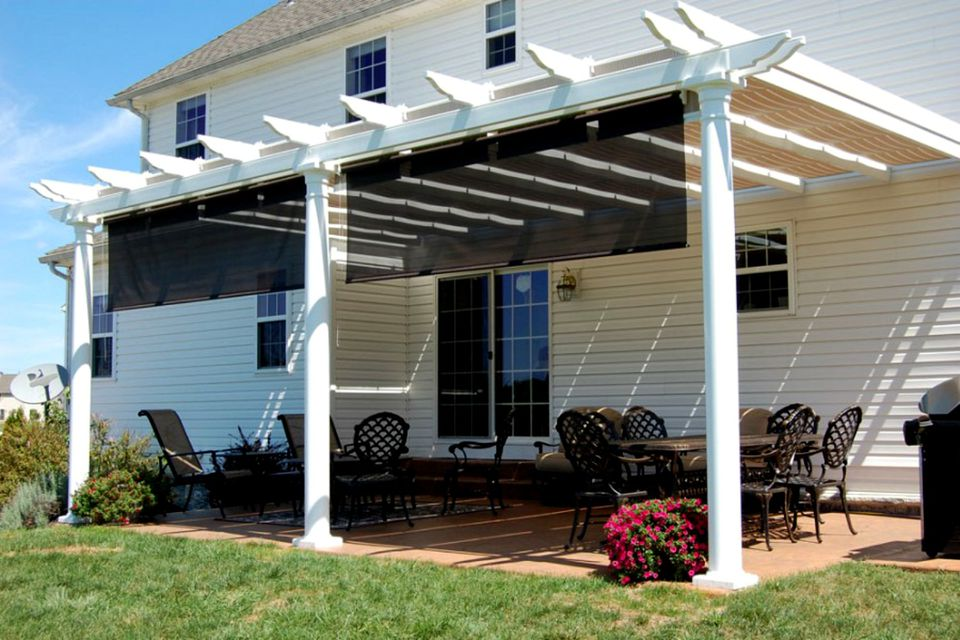 shade in sun phoenix awning stationary covers screens serving city blinds patio retractable awnings