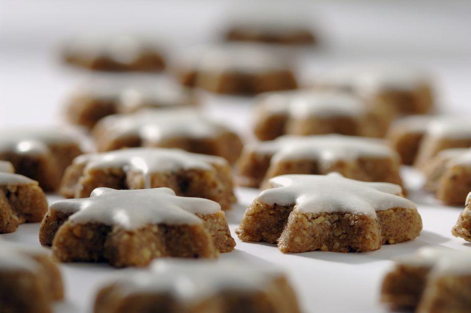 Zimtstern, traditional German Christmas cookies with cinnamon