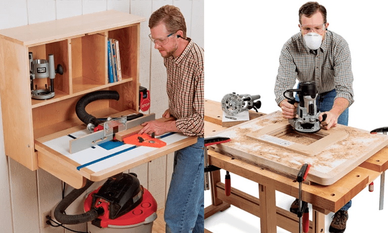 9 free diy router table plans you can use right now wall mounted router table plan from rockler greentooth Choice Image