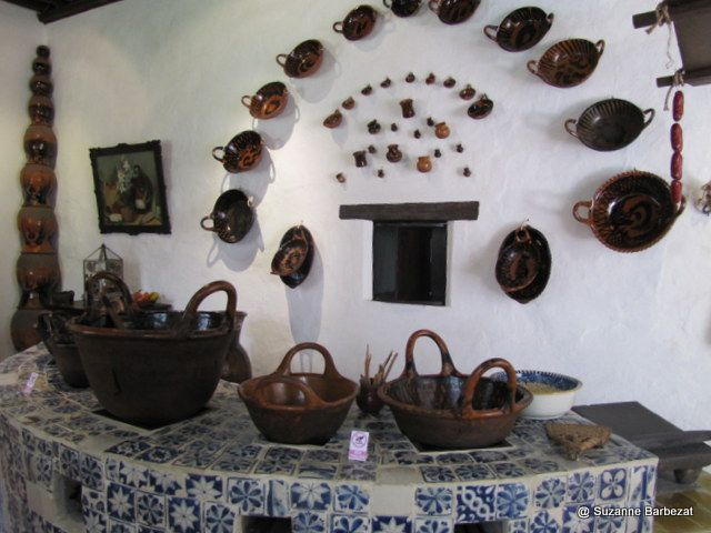 The kitchen at the former convent of Santa Monica, Puebla