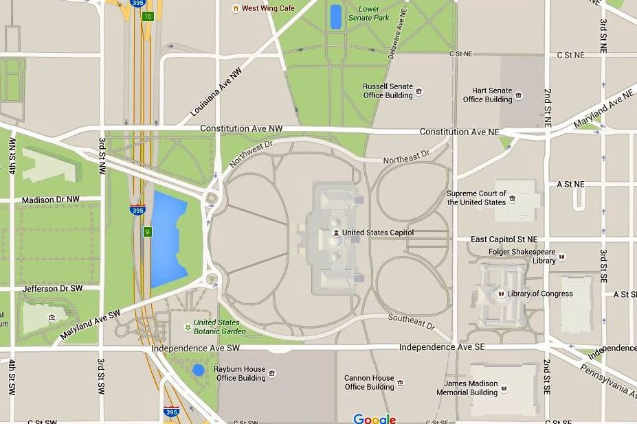 U.S. Capitol Map