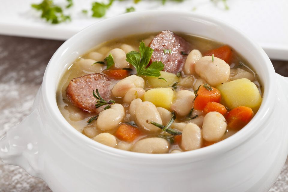 bean soup with smoked sausage