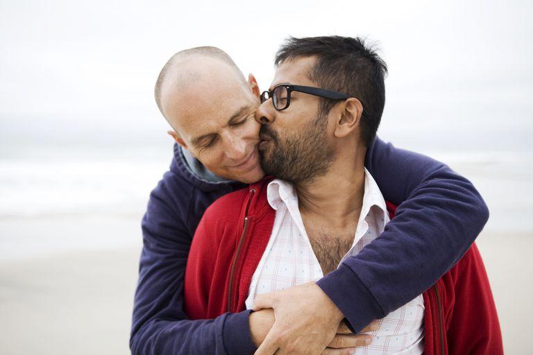 Gay Couple Kiss