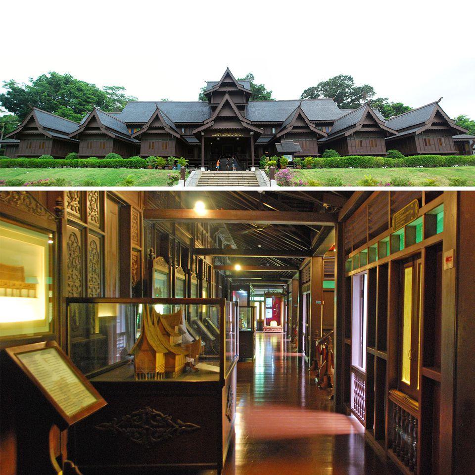 Exterior and Interior of Malacca Sultanate Palace, Malaysia
