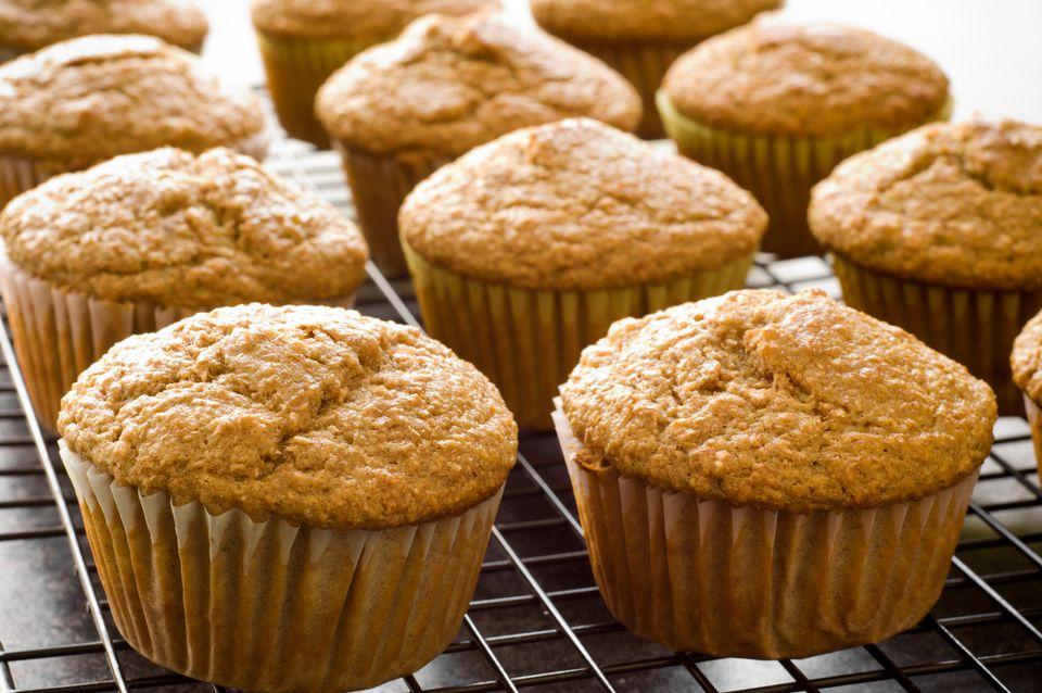 Homemade vegan banana muffins