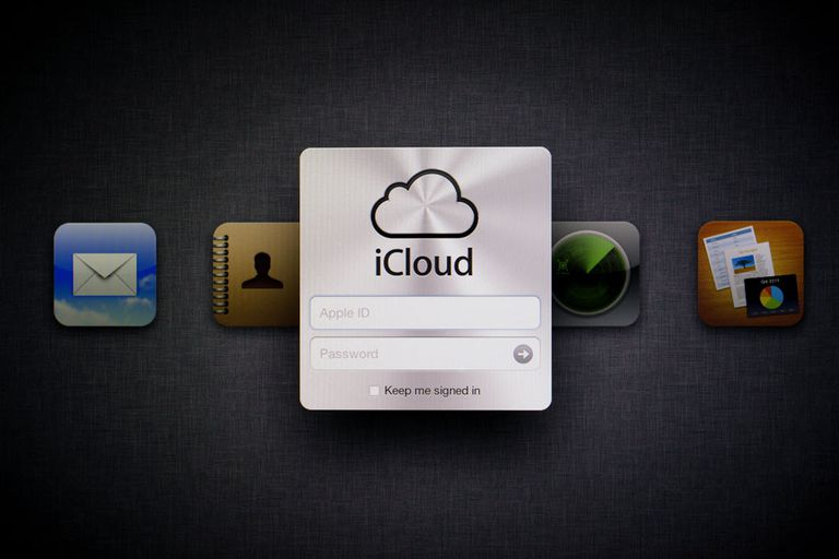 iCloud sign in on a tablet screen.