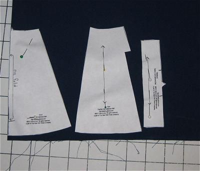Layout and Cutting Out the Free Doll Skirt Pattern