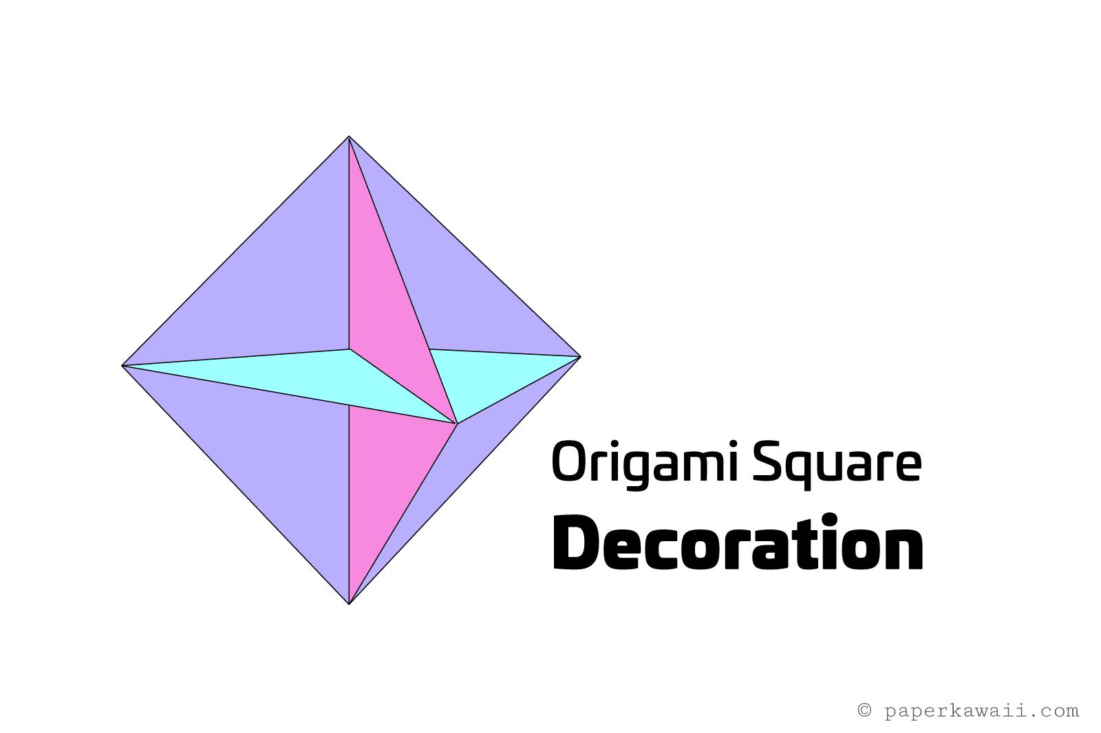 Origami Square Hanging Decoration Tutorial - photo#14