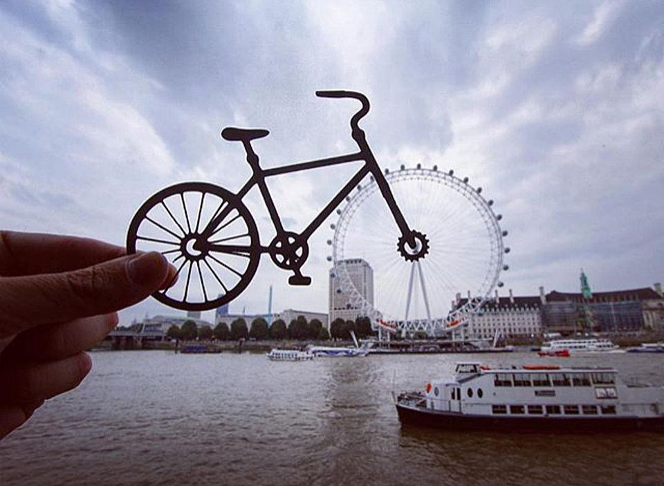 London Eye Transformed with Paper Cutout