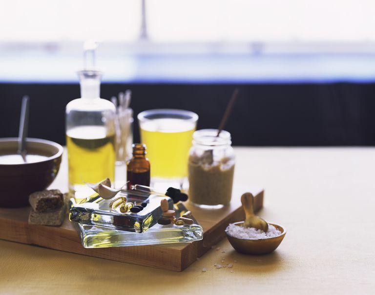 Sea salts , mustard , essential oils , and garlic