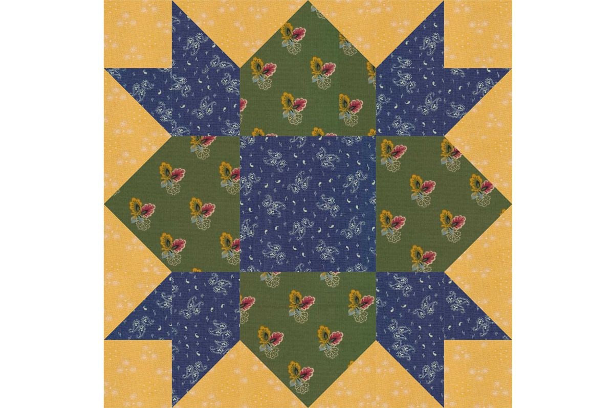 Weathervane Quilt Block Pattern A Star Quilt Design