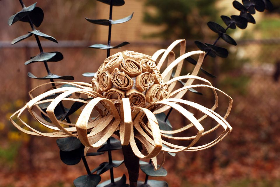 Paper Flower From a Recycled Cardboard Tube