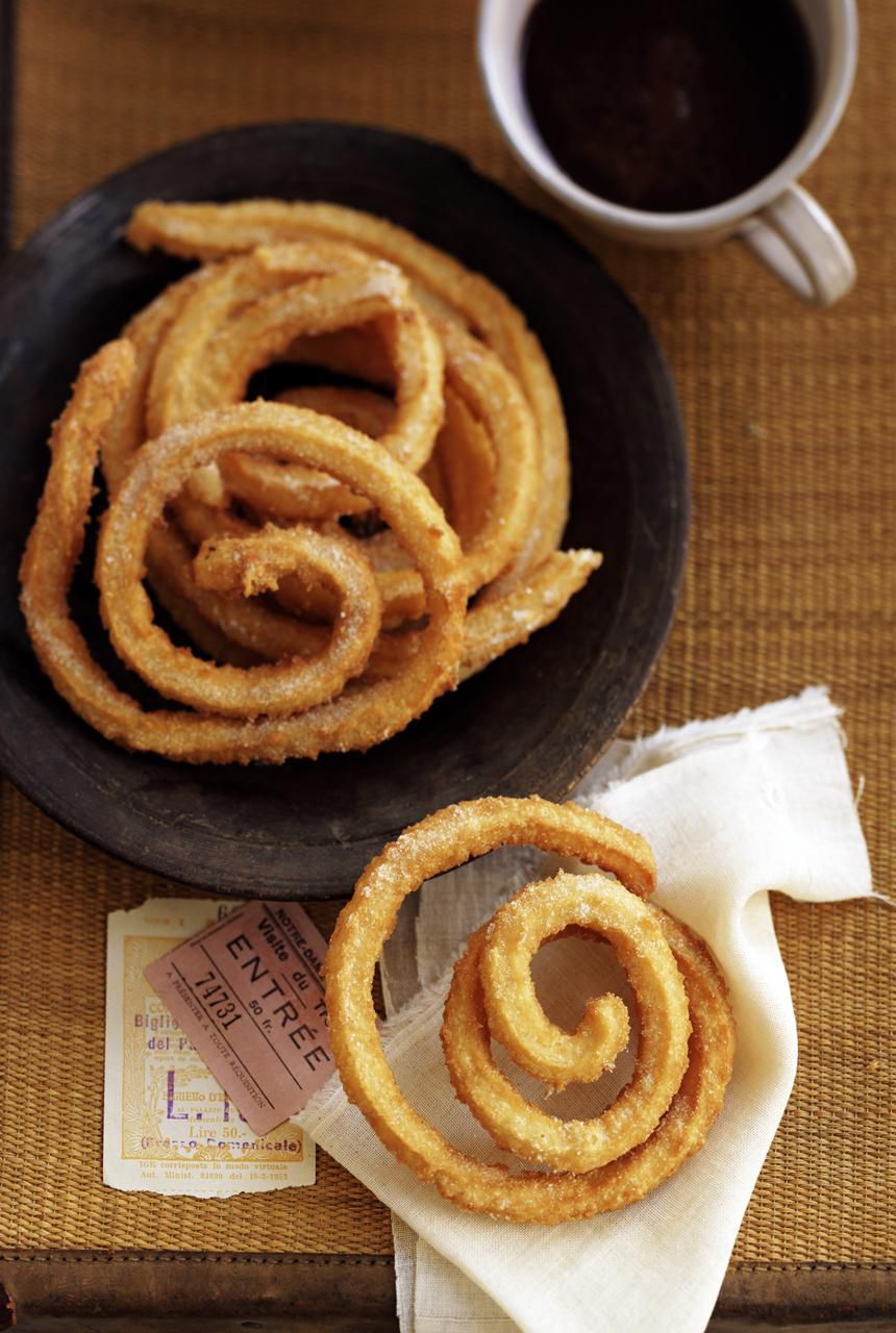 A delicious Spanish churros recipe that is sure to be a hit at your next Spanish tapas party!