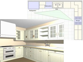 L Shaped Kitchen l-shaped kitchen plans