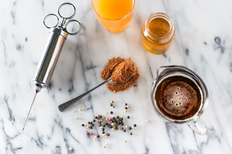 ingredients for beer and honey injection