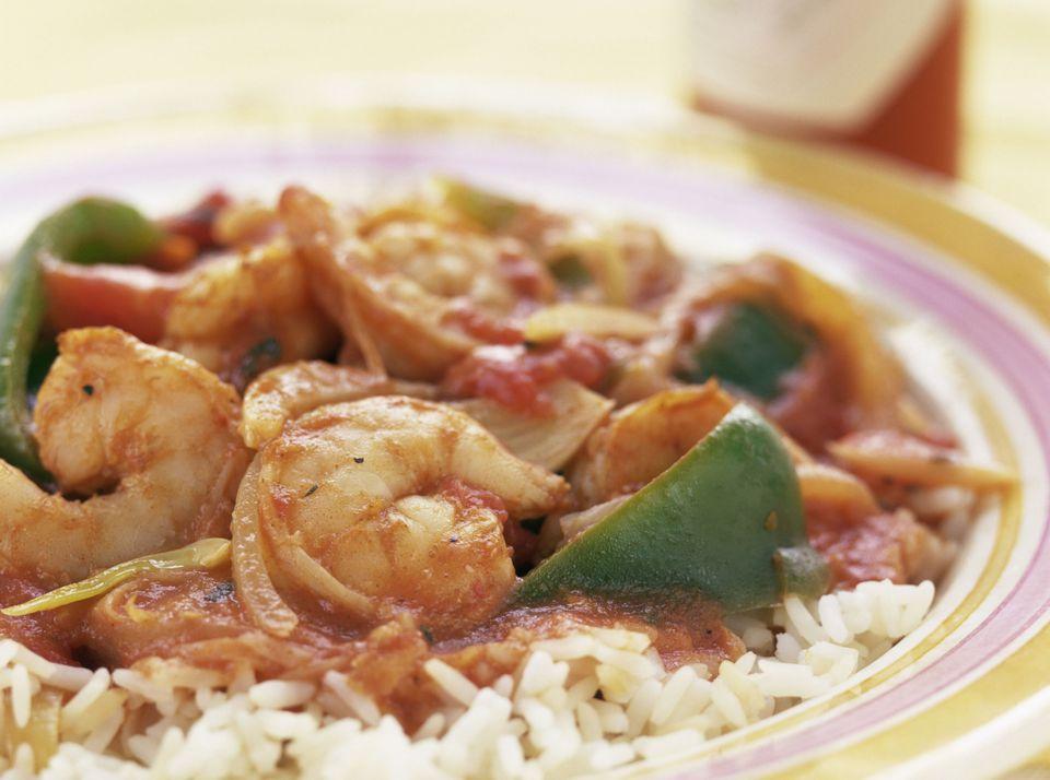 Creole Style Shrimp on Rice