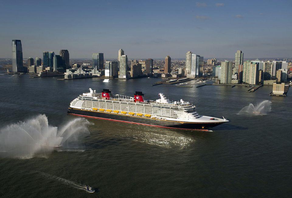 Disney Fantasy cruise ship in New York City