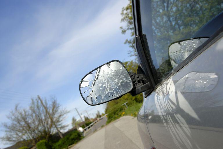 Broken Car Side Mirror
