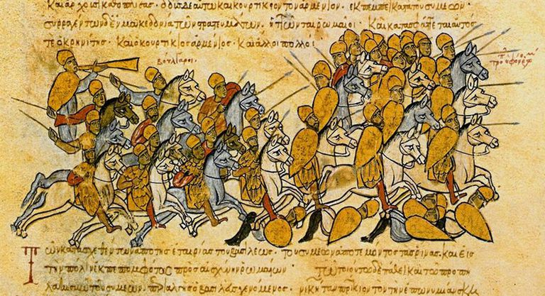 Bulgarians defeat the Byzantines