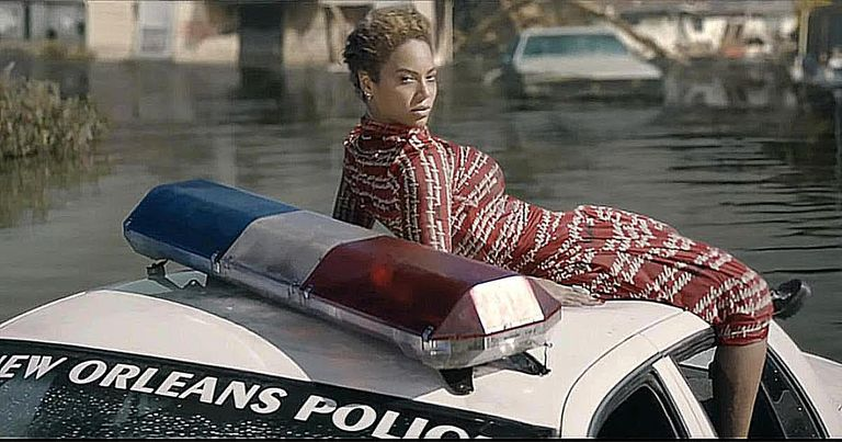 Beyonce sits atop a sinking New Orleans Police car in the Formation video, which is a cultural product that we can analyze through the theory of cultural materialism.
