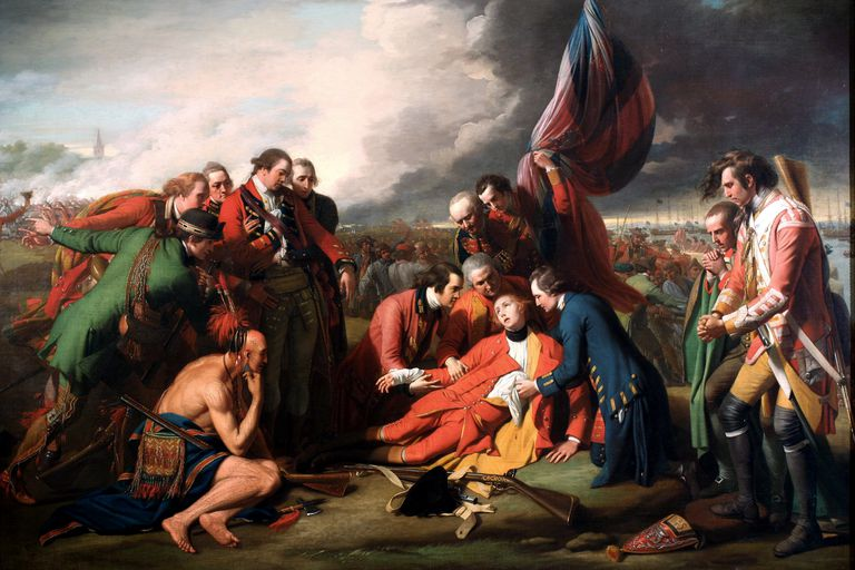 painting Death of Wolfe by Benjamin West