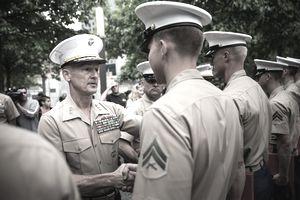 Reenlistment Ceremony For Service Members Held At Nat'l September 11 Memorial